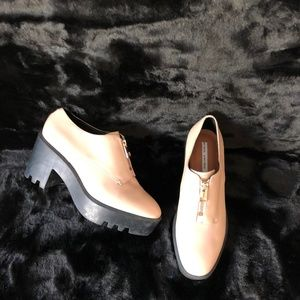 &OS Anthro Leather Platform Chunky heel loafers